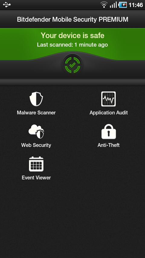 bitdefender mobile security and antivirus interface