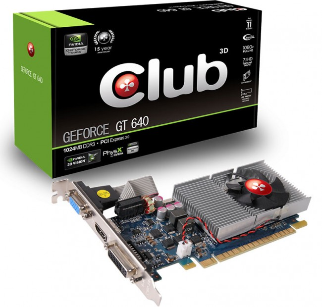 Afbeelding van de nvidia gt640 club 3d