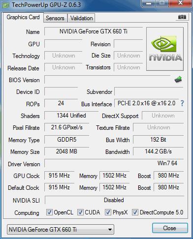 pguz weergave van de nvidia gtx 660ti videokaart