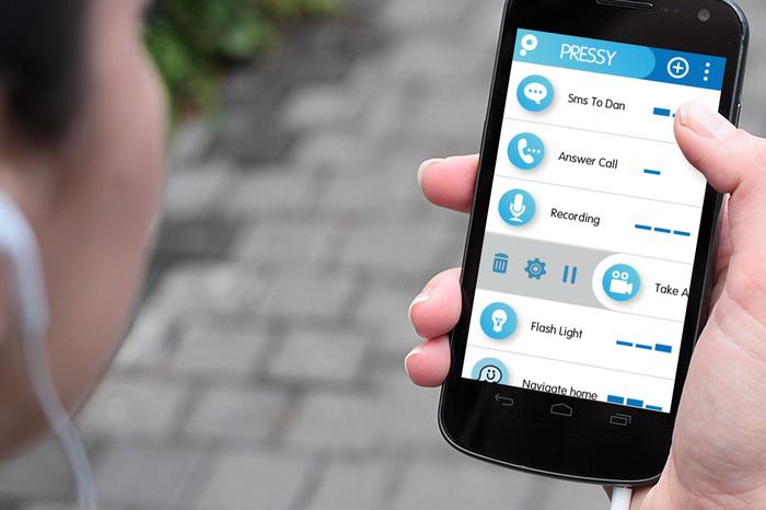 Afbeelding van de interface van de pressy app voor android