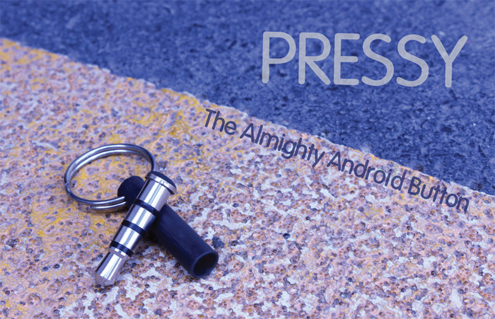 Pressy the almighty android button met sleutelhanger