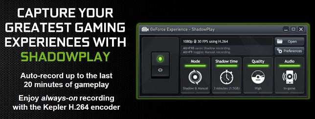 afbeelding van nvidia shadowplay capture greatest gaming experiences