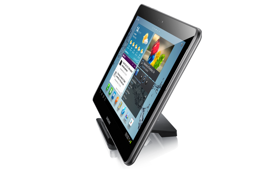 Afbeelding van de Samsung Galaxy Tab 2 10.1 met dock