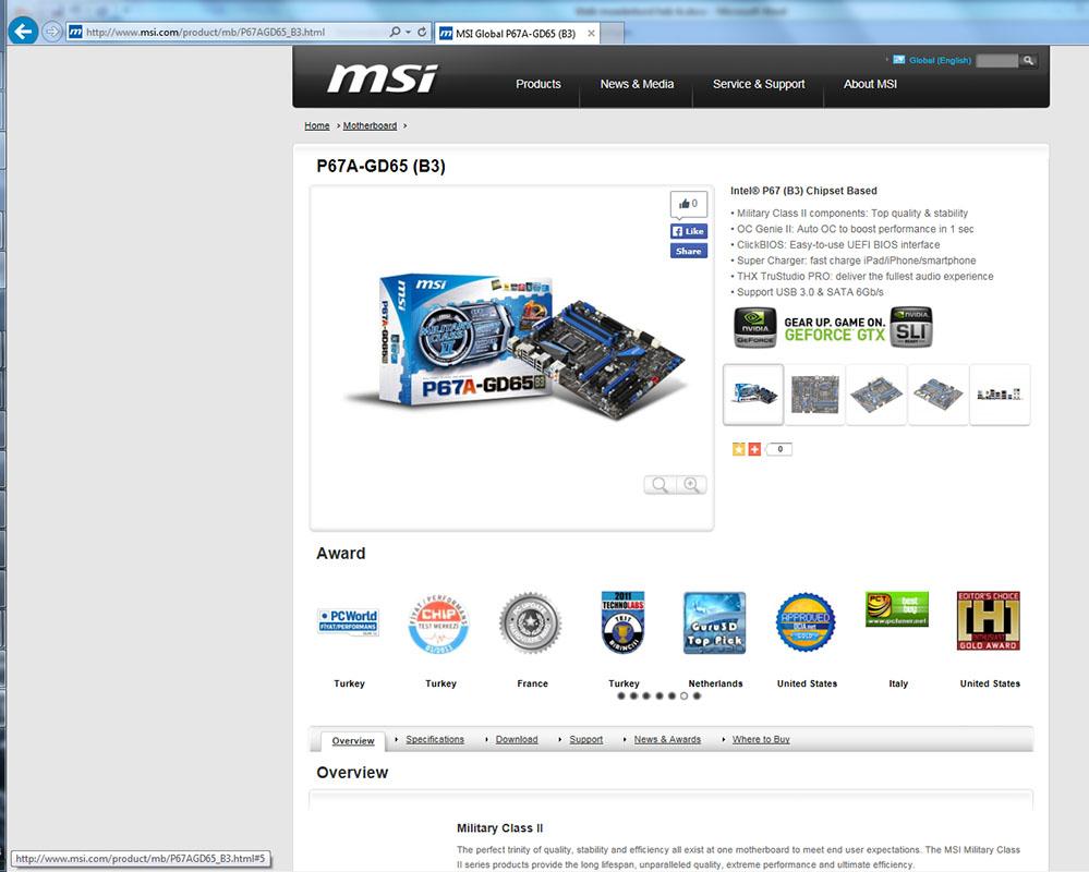 moederbord drivers updaten stap 3 de productpagina