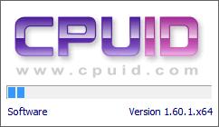 afbeelding van het opstarten van cpu-z om de informatie van uw moederbord uit te kunnen lezen