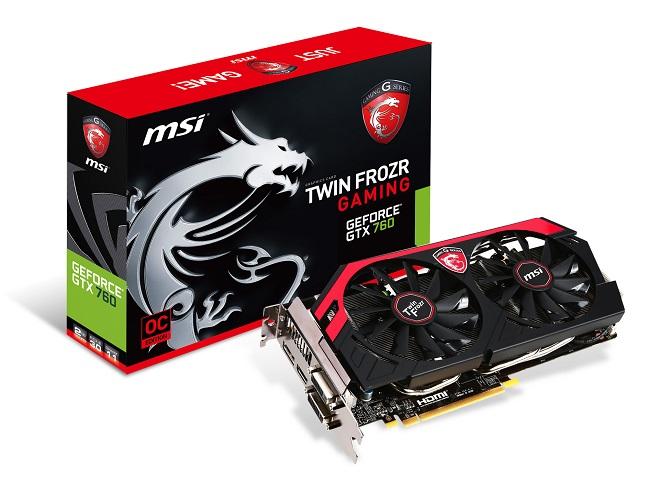 afbeelding van de MSI GeForce GTX 760