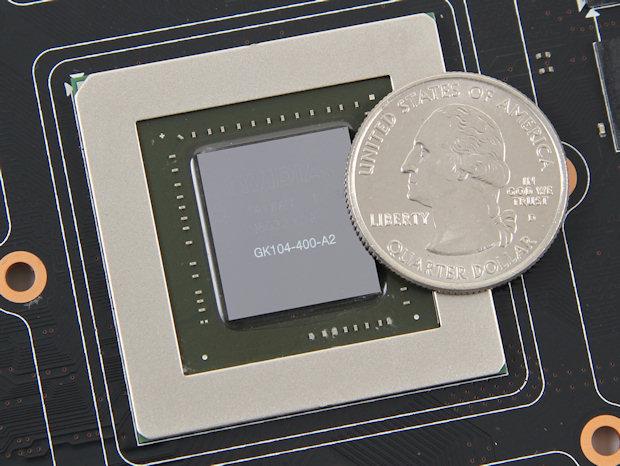 de chip van een videokaart