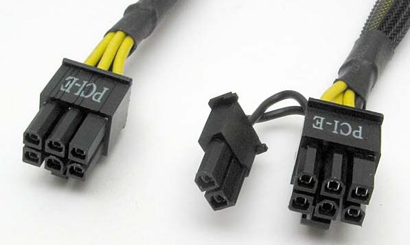 PCI-E Connector van uw voeding