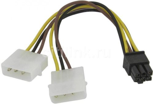 Verloopkabel Molex naar PCI-E 6pins