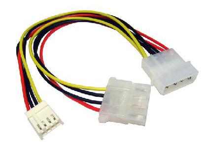 mini-molex floppy connector voor uw voeding