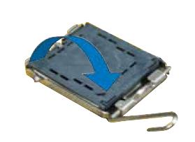afbeelding van de processor en de cpu hendel van uw processor