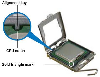 plaats de processor in het socket