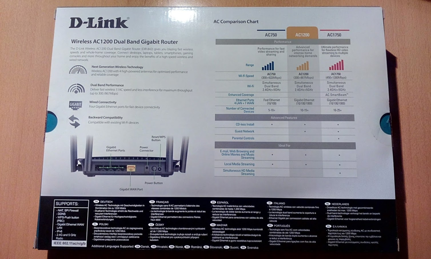 D-Link DIR-825 Wi-Fi Router: review, specifications, settings and reviews 10